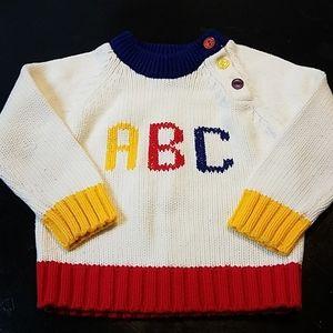 Vintage Unisex Handknit Alphabet Sweater